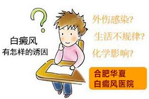 白癜风发病的因素有哪些,合肥华夏白癜风医院